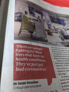 """""""There are people fighting for their lives..."""" quote from The Guardian 09.01.21"""